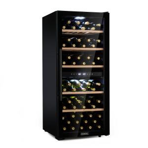 Barossa 102D wijnkoelkast 2 zones 102 flessen touch led zwart 102 flessen