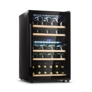 Barossa 40D Wine Fridge 2 Zones 135 L 41 Bottles Glass Door Touch 135 Ltr