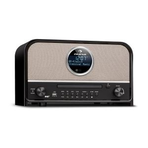 Columbia DAB Radio 60 W max. CD DAB+/VHF-Tuner BT MP3 USB Nero