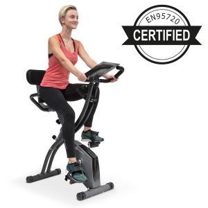 Klarfit X-Spline Exercise Bike, Flexible Drawstrings, Belt Drive, Black Black