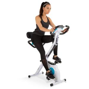 Azura Plus 3-in-1 Home Trainer, Flexible Pull Straps, Belt Drive, White White