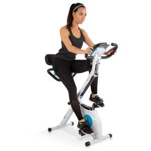 Azura Plus Cyclette 3-in-1, Fasce flessibili, Trasmissione a Cinghia, Bianco bianco