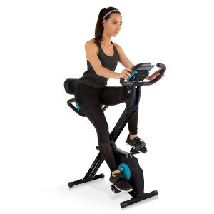 Klarfit Azura Plus 3-in-1 Exercise Bike, Flexible Drawstrings, Belt Drive, Black Black