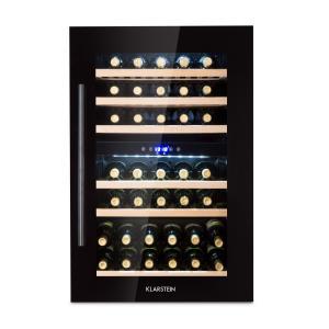 533d74ae10690 Klarstein Vinsider 35D Onyx Cave à vin encastrable 41 bouteilles LED classe  C