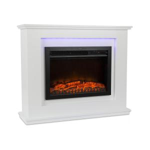Salzburg Electric Fireplace 1000 / 2000W InstaFire Remote Control White