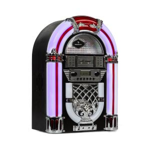 Arizona Jukebox, BT, UKW-Radio, USB, SD, MP3, lettore CD, nero