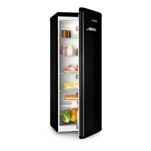 Irene XL Réfrigérateur grand volume 242L Design rétro 4 clayettes Classe A+ - noir Noir