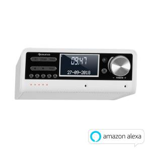 Intelligence DAB+ Kitchen Radio Alexa VoiceControl, Spotify, BT, White White