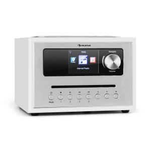 auna Silver Star CD Cube Radio Bluetooth HCC Display white White