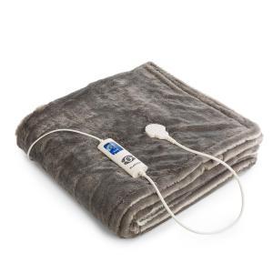 Dr. Watson SuperSoft Cobertor Eléctrico 120W 180x130cm Pelúcia creme/cinza Creme