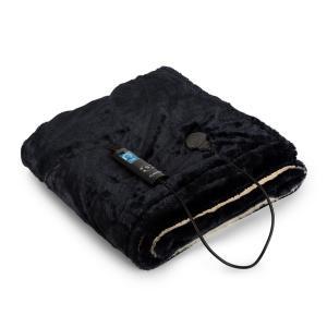 Dr. Watson SuperSoft elektrische deken 120W 180x130cm knuffelzacht beige/blauw Beige