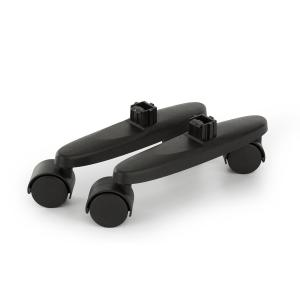 Hot Spot Slimcurve Floor Rollers Replacement 2-pc Black