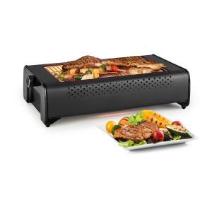 Infragrill elektrische barbecue infrarood 1500W geringe rookontwikkeling zwart