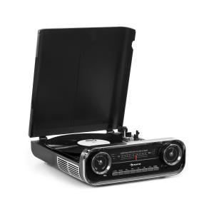 Challenger LP Gramofon Bluetooth radio FM USB kolor czarny Czarny