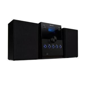 MC-30 DAB Mikrowieża stereo 2 kolumny DAB+ UKW Bluetooth odtwarzacz CD kolor czarny Czarny