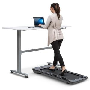 Klarfit Workspace Go Light Treadmill, 350 W, 0.8 - 6 km/h, 11 cm Height, black