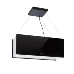 Kronleuchter XL Island Exhaust Hood 90cm Exhaust Air: 590m³ / h LED Touch Black Black