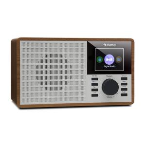 "DR-160 BT Radio DAB+/FM USB AUX Display TFT 2.4"" Telecomando Legno marrone"