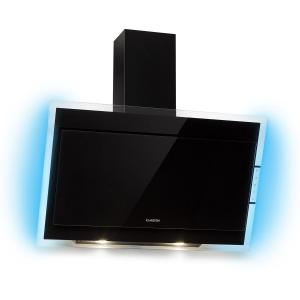 Mirage 90 Cooker Extractor Hood 550 m³ / h Touch-Panel RGB Ambient Light Black | 90 cm