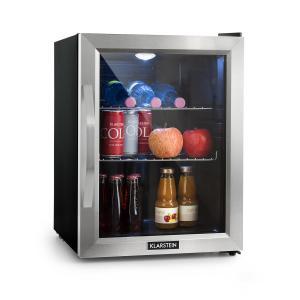 Beersafe M Refrigerator A + LED 2 Metal Grids Glass Door Black