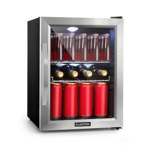 Beersafe M Kühlschrank A+ LED 2 Metallroste Glastür schwarz