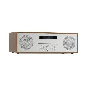 Silver Star CD-FM 2x20W Max. Slot-In CD Player FM BT Aluminium Brown Brown