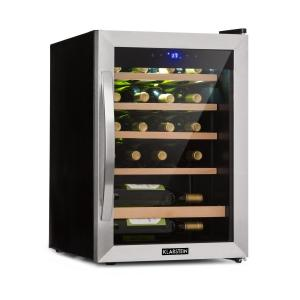 Vinamour 19 Wine Cooler 19Fl./65l | 4-18 ° C | 39dB | Glass | Black 19 Bottles | 1 cooling zone