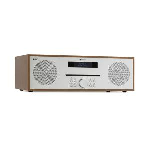 Silver Star CD-DAB 2x20W máx. Slot-In CD-Player DAB+ BT Alu marrom Castanho