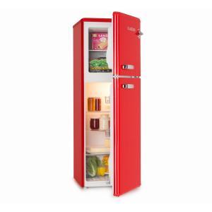 Audrey jääkaappipakastin retro-look punainen punainen