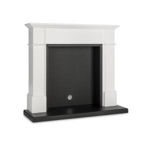 Biel Fireplace Housing Elegant Design MDF White