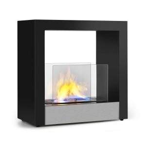 Phantasma Cube Ethanol Fireplace Smoke-Free Stainless Steel Burner 4h Stainless Steel