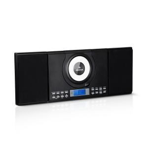 Wallie Micro System CD Player Bluetooth USB Port Remote Control Black Black