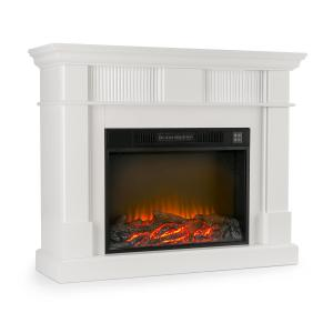 Bern Electric Fireplace 750 / 1500W LED Fire Remote Control MDF White