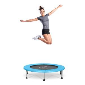 Rocketbaby trampolina Ø96cm polipropylen maks. 100 kg powłoka proszkowa niebieska Niebieski