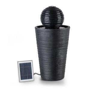 Liquitorre XL Fontaine de jardin 200 l/h panneau solaire batterie 2W L 34 x 70 x 34 cm