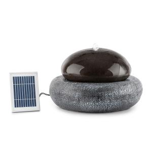 Ocean Planet Solar Fountain 200l / h Solar Panel 2W Rechargeable Battery LED Polyresin