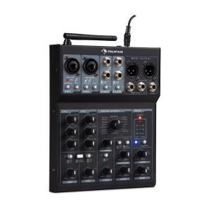 Blackbird 6-Channel Mixer Mixing Console, BT, USB, MP3, 2 x XLR Microphone, Black