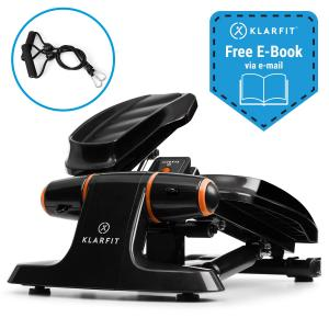 Galaxy Step Mini stepper fitness charge 120kg écran LCD - noir& orange Orange noir