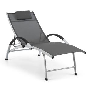 Sun Valley Sun Lounger Collapsible Pillow Grey Grey