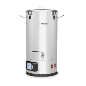 Maischfest Mash Kettle 5-Piece Set 1500 / 3000W 30l LCD Stainless Steel 30 Ltr