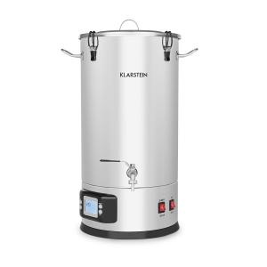 Maischfest Mash Kettle 5-Piece Set 1500 / 3000W 35l LCD Stainless Steel 35 Ltr