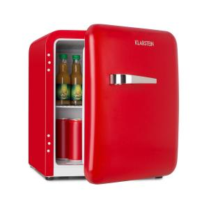 Audrey Mini réfrigérateur 48L 2 clayettes classe A+ look rétro rouge Rouge