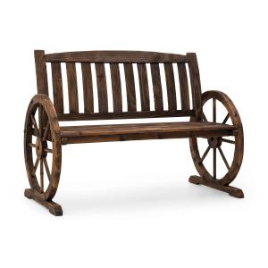 Murnau Garden Bench Flame-Treated Fir Wood Brown