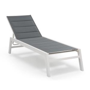 Renazzo Lounge Lounge Chair 70/30 PVC / PE Aluminium 6-Step White / Grey White