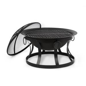 Pentos 2-in-1 Fire Bowl Ø73cm Spark Protection Ø60cm Grill Cast Iron