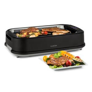 Köfte Electric Grill 1500W Touch Control Panel Water Collecting Tray Black