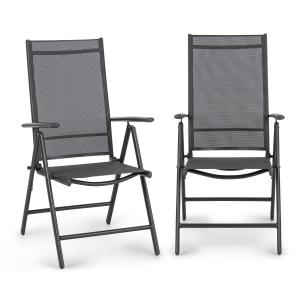 Almeria taitettava tuoli 2:n setti 59,5 x 107 x 68 cm ComfortMesh antrasiitti Anthracite