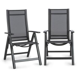 Cádiz Folding Chair, Set of 2 59.5 x 107 x 68 cm ComfortMesh Anthracite Anthracite