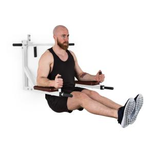 Bouncer MultiGym Pull-Up & Dip Station Floor Station 200kg Steel White White