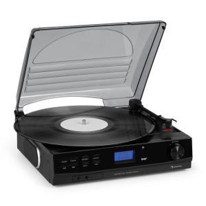 TT-186 DAB levysoitin DAB+/FM bluetooth-toiminto hihnaveto 33/45 rpm
